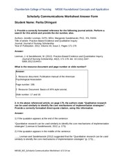 GRADED_Dhingani Parita NR500_W2_Scholarly_Communications_Worksheet_Answer_Form