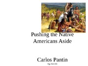 Pushing the Native Americans Aside