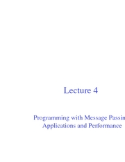 Lec04 Programming with Message Passing