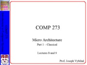 COMP 273 Lecture 8 and 9 - Classical CPU
