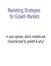 Marketing Strategies for Growth Markets(1) (1)