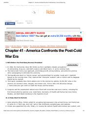 Chapter 41 - America Confronts the Post-Cold War Era | Course-Notes.Org.pdf