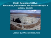 Mineral Resources 12