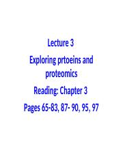 Biochem Lecture 3 (Chapter 3) BB