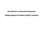 Structural Dynamics - SDOF