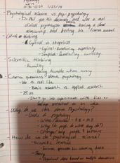 Notes on Research and Critical Thinking in Psychological Science