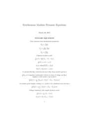 Machine Dynamic Equations