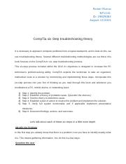 6 Steps CompTia Trooubleshooting.docx