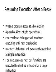 Resuming Execution After a Bre.pptx