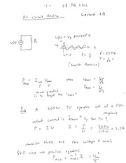 ENEL 673 AC Circuit Review Notes