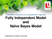 EECS 6339 fully independent and naive bayes models