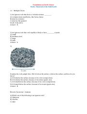 Earth Science Rocks Materials of the Solid Earth.docx