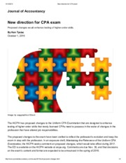New direction for CPA exam