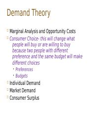 PPD 501aEcon Lecture 2 Demand theory_L2 copy.odp