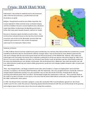 Middle East Conflict Sheet