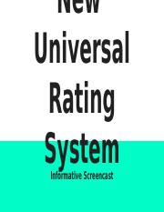 jeremiah isichei - F451 PROJECT_ New  Universal Rating System.pptx