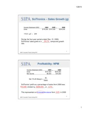 scitronics financial health Assessing a firm's future financial health case study answer sheet profitability ratios: income statement 1 2 3 4 5 1,307 | 48,769 | 268% decrease | 360% increase | increase | income tax paid 15,249 | 1,824 | 1196% | decrease | 1467% 12,193 | 1,307 | 1072% | deterioration | 1522% activity ratios: 1 2 3 4 5.