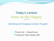 cbt Lecture