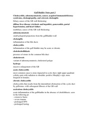 rs300 Gall bladder Notes part 2