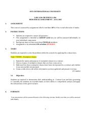 INDIVIDUAL ASSIGNMENT LAW2220 AUG 2015.docx