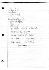 Statics Chapter 1 Notes Second Law