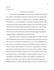 Causal argument essay 1 enc1101 21 october 2013 how technology is