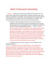 week 5 homework for networking.docx