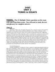 Unit 2 Exam Terms Detailed