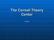 The Cornell Theory Center
