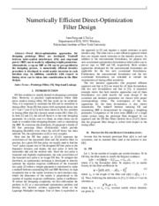 1j  Prototype filter design