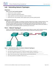 8.1.3.9 Lab - Subnetting Network Topologies.docx