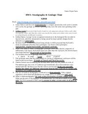 HW1: Stratigraphy & Geologic Time.docx