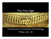 Iron Age and Geometric Lecture Slides