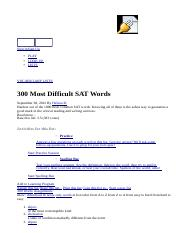 300 Most Difficult SAT Words - Vocabulary List _ Vocabulary