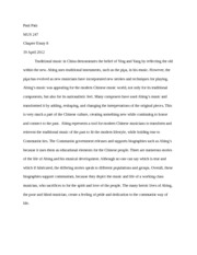 Chapter Essay 8