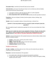 August 22, 2014-Chapter 1 Notes