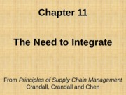 Chapter 11 Need to Integrate PSCM2E