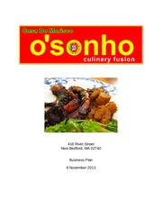 OSonho Business Plan