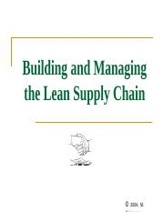 Chapter 1  2 - Building Lean Supply Chains.ppt