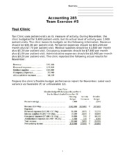 Team Exercise 5 Key (Chapter 10-11)