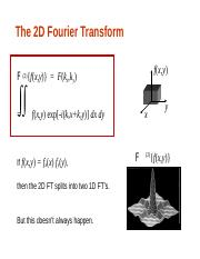 The 2D Fourier Transform (1).ppt