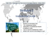 NBA 5911. Winter 2014. Session 2. Institutional Voids