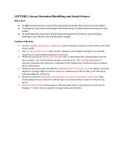 Lecture 1 STAT151 Statistical Modeling and Social Sciences.docx