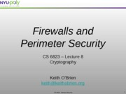 lecture 9 - firewalls