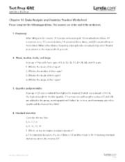 Chapter 10 - Data Analysis and Statistics Practice Worksheet