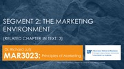 MAR3023 The Marketing Environment Overview