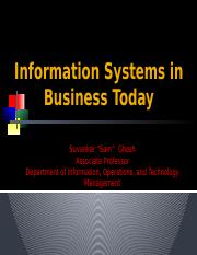 Lecture 1 Information Systems in Business Today(1)