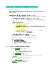 Notes Ch 5 Testing.doc