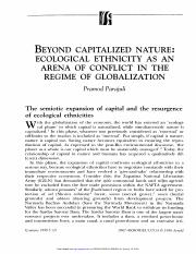Beyond capitalized nature ecological ethnicity as an arena of conflict in the regime of globalizatio