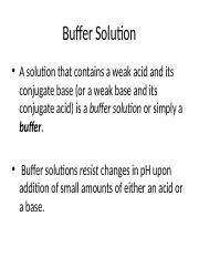 effects of buffers